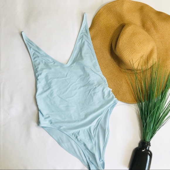 Topshop Other - • Topshop Baby Blue One-Piece Bikini •